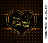 happy valentines day gold... | Shutterstock .eps vector #360352154