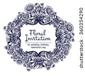 vintage delicate invitation... | Shutterstock .eps vector #360354290