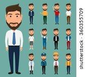 set of character man. people...   Shutterstock .eps vector #360355709