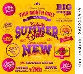 set of vector summer sales... | Shutterstock .eps vector #360355979