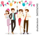 man and woman fun in party with ... | Shutterstock .eps vector #360356540