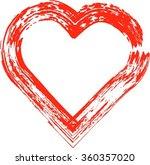 grunge heart . red heart .... | Shutterstock .eps vector #360357020
