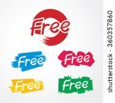 vector of free tag  free sign ... | Shutterstock .eps vector #360357860