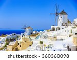 santorini  greece   oia at... | Shutterstock . vector #360360098