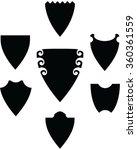 black silhouette of shields ...   Shutterstock .eps vector #360361559