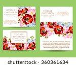 romantic invitation. wedding ... | Shutterstock .eps vector #360361634