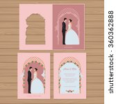 wedding invitation with bride... | Shutterstock .eps vector #360362888