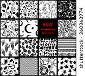 mega set of 15 black and white... | Shutterstock .eps vector #360363974