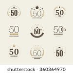 fifty years anniversary... | Shutterstock .eps vector #360364970