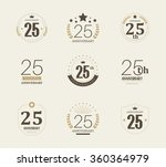 twenty five years anniversary... | Shutterstock .eps vector #360364979