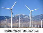 A Wind Turbine Park In Front O...