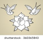 old school styled tattoo... | Shutterstock .eps vector #360365843