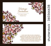invitation with floral... | Shutterstock .eps vector #360366638