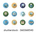 seo search optimization buttons ... | Shutterstock .eps vector #360368540