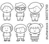 vector set of children | Shutterstock .eps vector #360373700