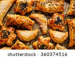 appetizers with puff pastry... | Shutterstock . vector #360374516