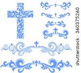 cross isolated on white... | Shutterstock .eps vector #360375260