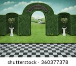 Background With Arch And Green...