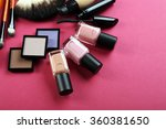 cosmetics on pink background | Shutterstock . vector #360381650