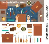 workplace for leather goods.... | Shutterstock .eps vector #360383054