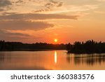 Bright Summer Sunset Over The...