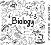 biology science theory doodle... | Shutterstock .eps vector #360384050