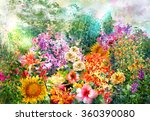 Landscape Of Multicolored...