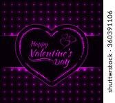 happy valentines day magenta... | Shutterstock .eps vector #360391106
