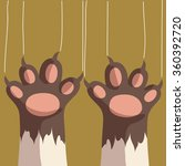isolated cat foot  scratching... | Shutterstock .eps vector #360392720