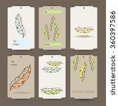 vintage hand drawn native... | Shutterstock .eps vector #360397586