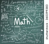 math theory and mathematical... | Shutterstock .eps vector #360399383
