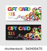 set of gift  discount  voucher... | Shutterstock .eps vector #360400670