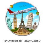 famous monuments of the world... | Shutterstock . vector #360402050