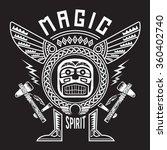 indian tatoo typography  t... | Shutterstock .eps vector #360402740