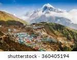 View On Namche Bazar  Khumbu...