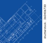 detailed architectural plan.... | Shutterstock .eps vector #360406730