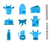 dairy farm and milk products... | Shutterstock .eps vector #360406904
