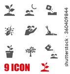 vector grey growing icon set   Shutterstock .eps vector #360409844