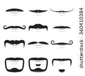 moustache shapes vector set... | Shutterstock .eps vector #360410384