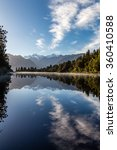 Stock photo lake matheson 360410588