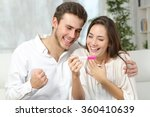 happy excited couple making... | Shutterstock . vector #360410639