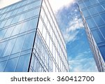 modern office building and... | Shutterstock . vector #360412700