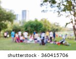abstract blur people picnic in... | Shutterstock . vector #360415706
