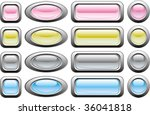 glossy buttons in various colors | Shutterstock .eps vector #36041818