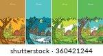 seasons. autumn  winter  spring ... | Shutterstock .eps vector #360421244
