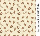 bakery seamless pattern. simple ... | Shutterstock .eps vector #360422144