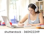 portrait of a student learning... | Shutterstock . vector #360422249