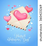 romantic air mail letter opened ... | Shutterstock .eps vector #360423269