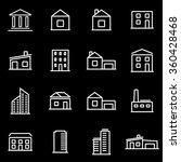 vector line buildings icon set. | Shutterstock .eps vector #360428468
