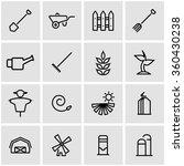 vector line farming icon set. | Shutterstock .eps vector #360430238